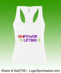 Womens Inspirational Racerback Tank Design Zoom