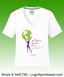 Ladies Inspirational Blended Performance V-Neck Tee Design Zoom
